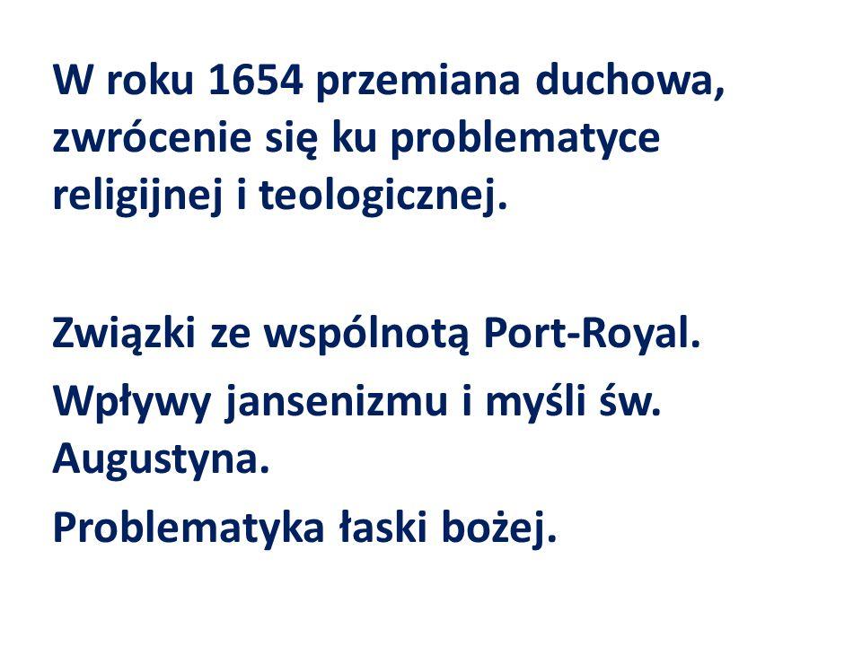 W roku 1654 przemiana duchowa, zwrócenie się ku problematyce religijnej i teologicznej.