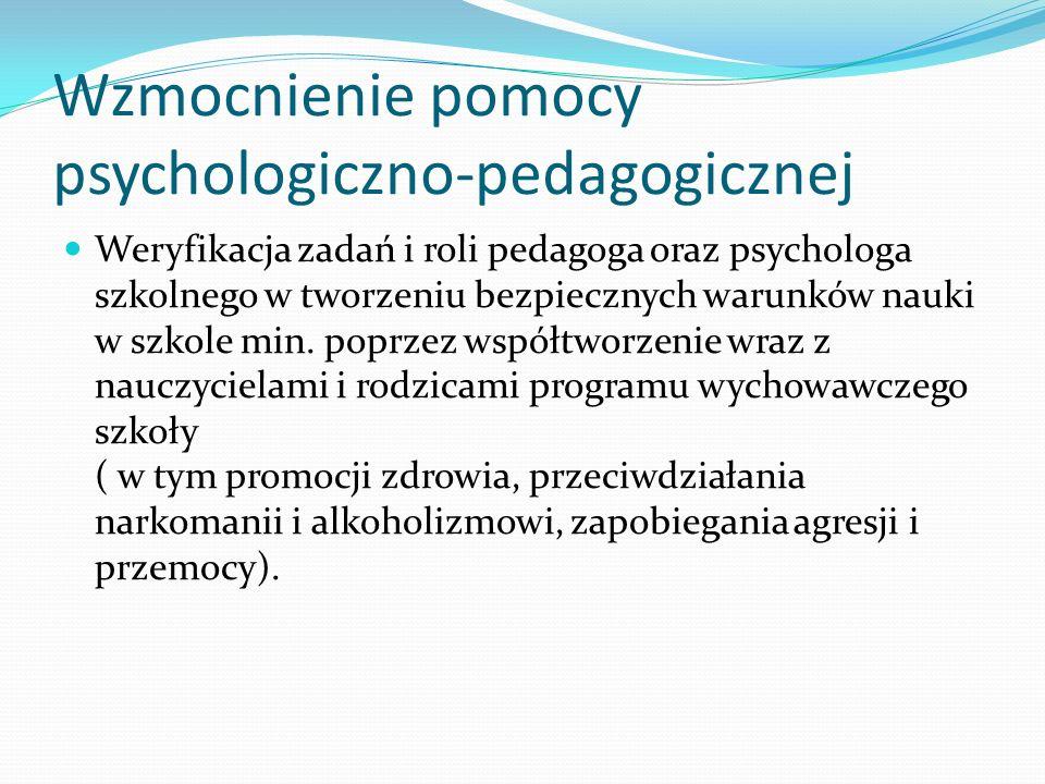 Wzmocnienie pomocy psychologiczno-pedagogicznej