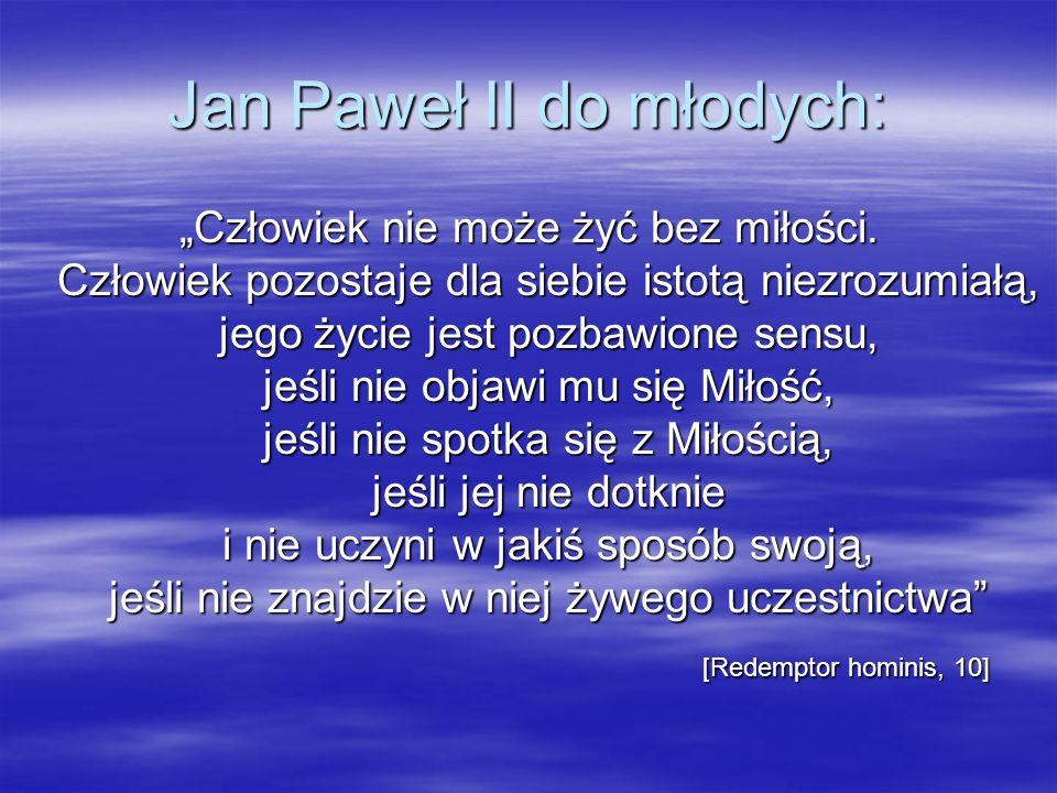 Jan Paweł II do młodych: