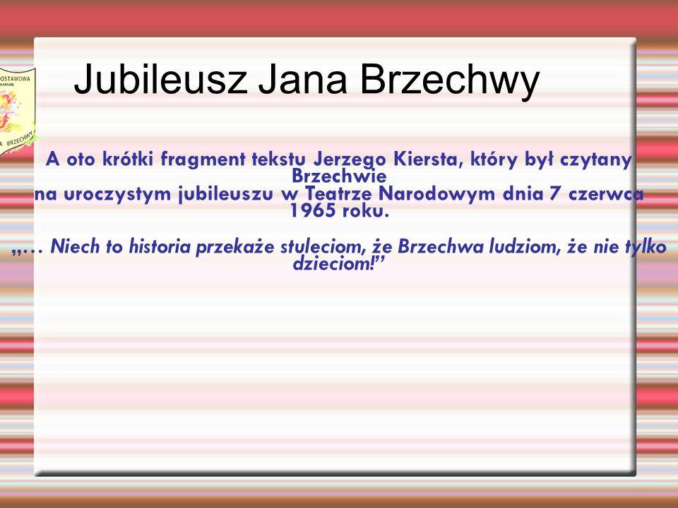 Jubileusz Jana Brzechwy