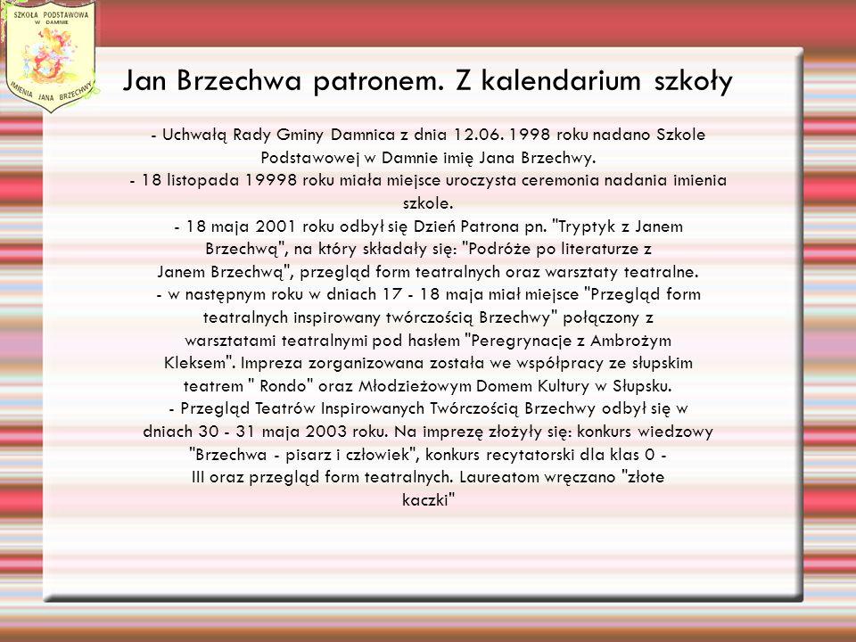 Jan Brzechwa patronem. Z kalendarium szkoły