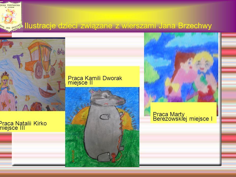 Ilustracje dzieci związane z wierszami Jana Brzechwy