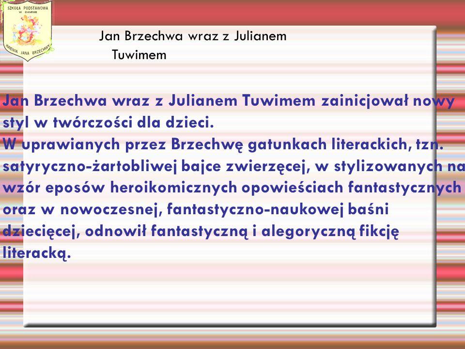 Jan Brzechwa wraz z Julianem Tuwimem