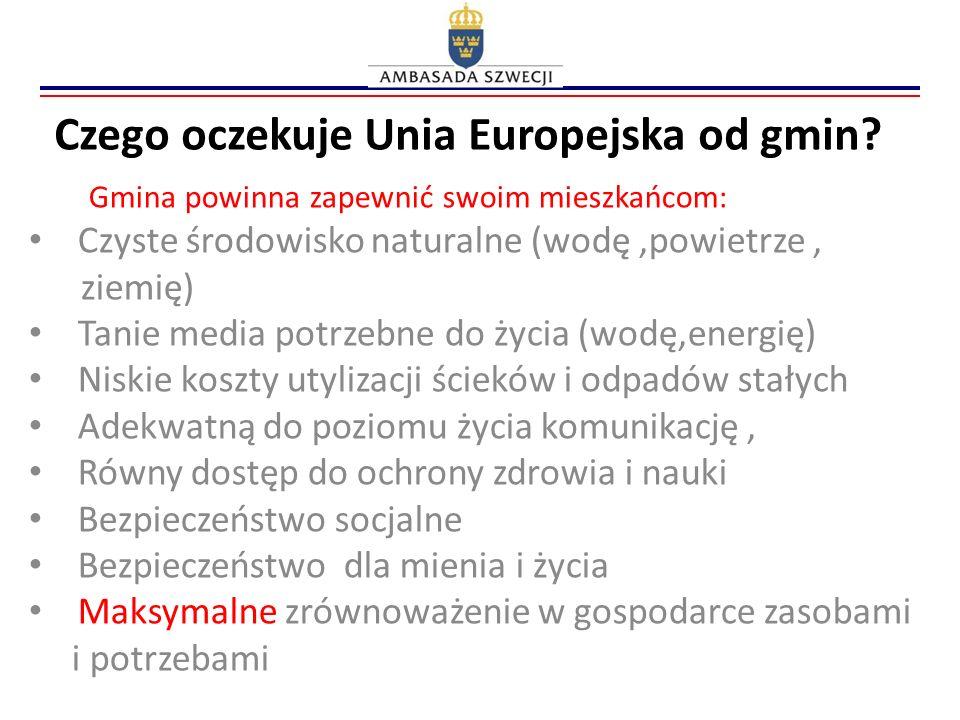 Czego oczekuje Unia Europejska od gmin