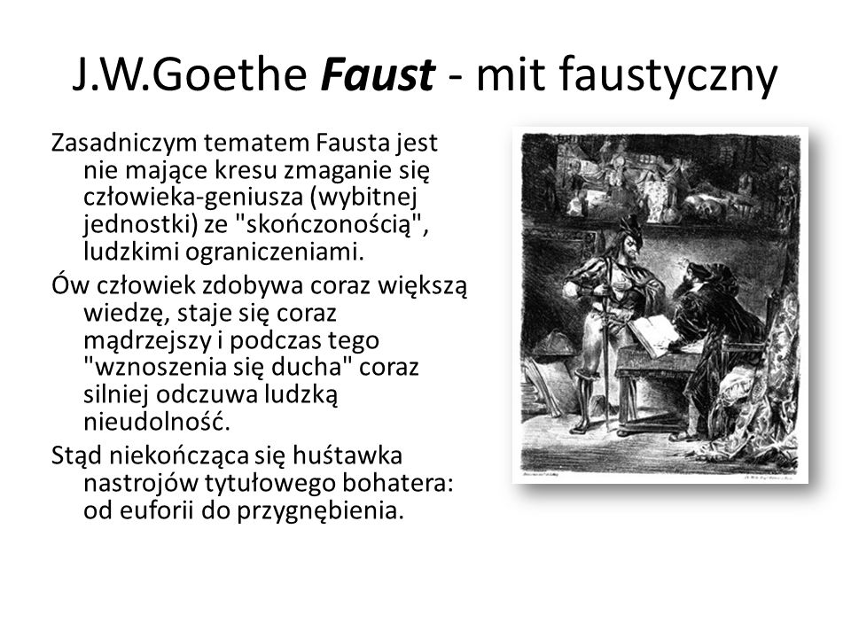 J.W.Goethe Faust - mit faustyczny