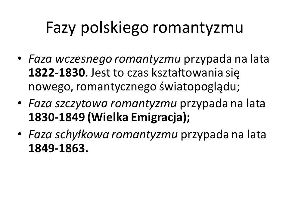 Fazy polskiego romantyzmu