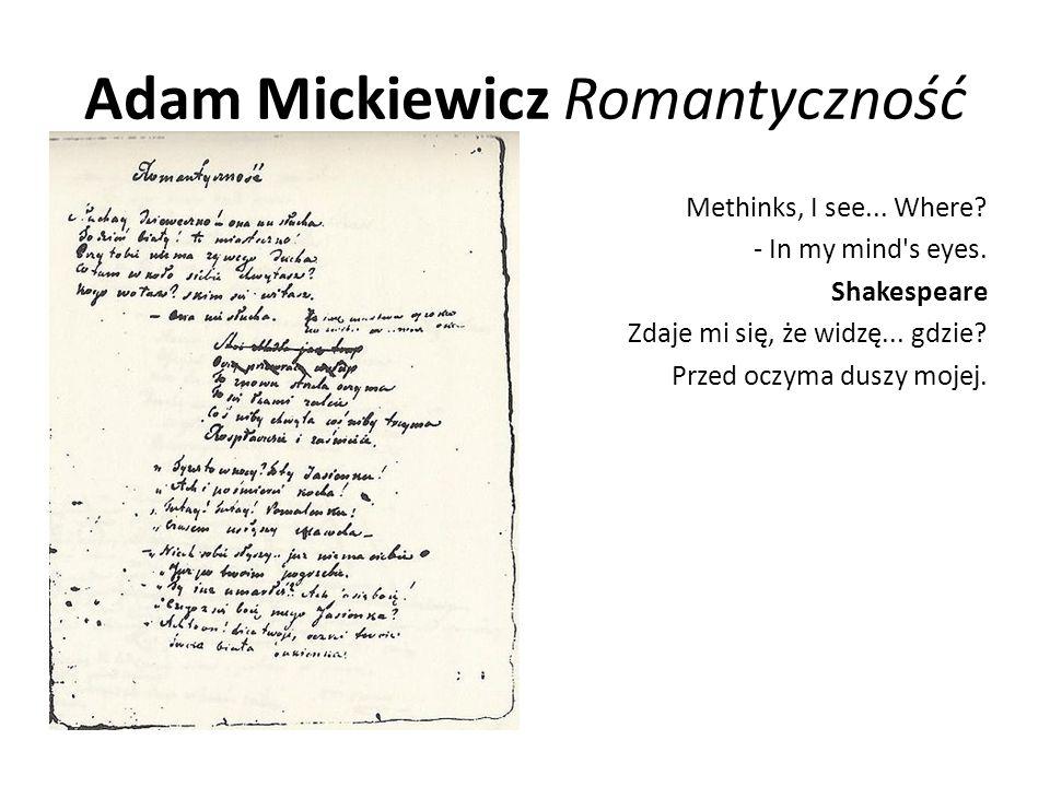 Adam Mickiewicz Romantyczność