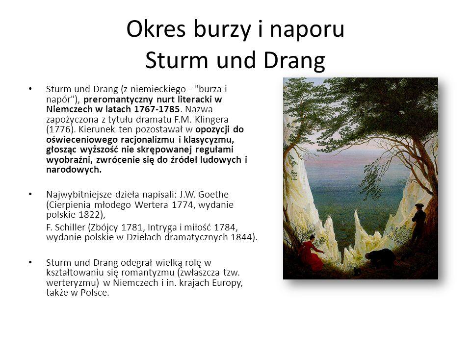 Okres burzy i naporu Sturm und Drang