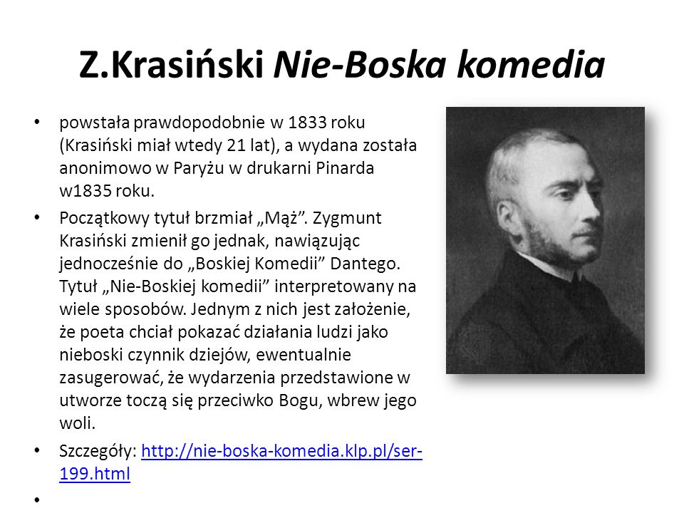 Z.Krasiński Nie-Boska komedia