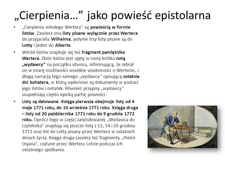 """Cierpienia… jako powieść epistolarna"