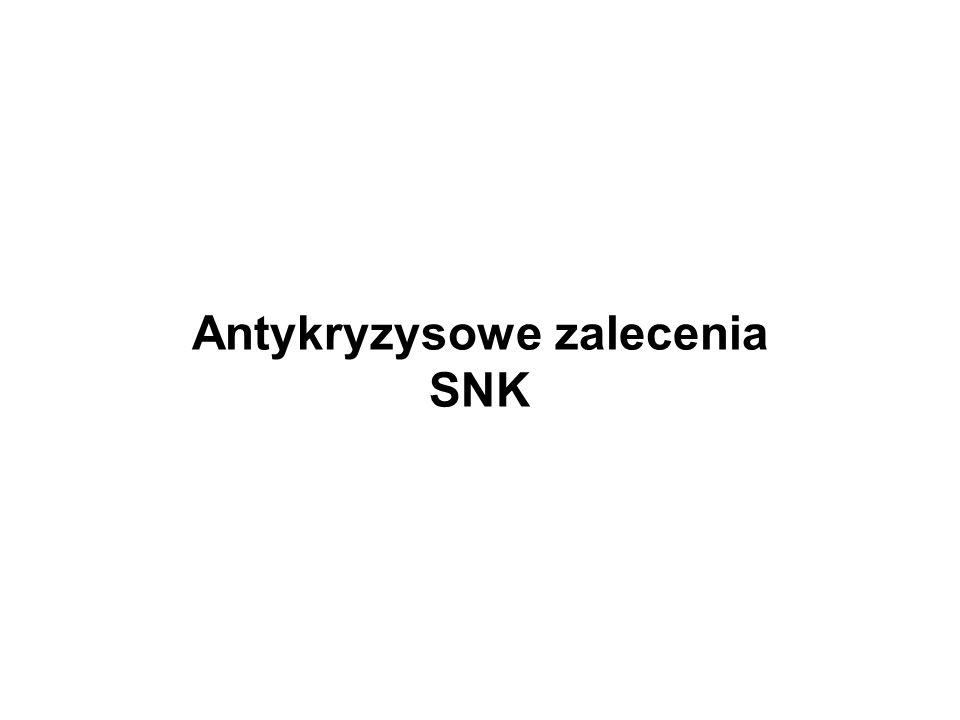 Antykryzysowe zalecenia SNK