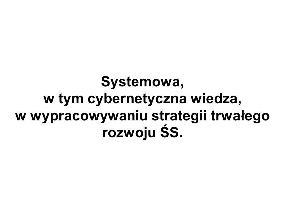 Systemowa, w tym cybernetyczna wiedza, w wypracowywaniu strategii trwałego rozwoju ŚS.