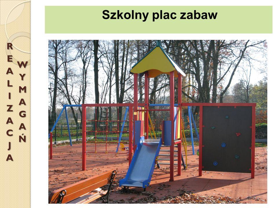 Szkolny plac zabaw REALIZACJA WYMAGAŃ Kierunki rozwoju placówki