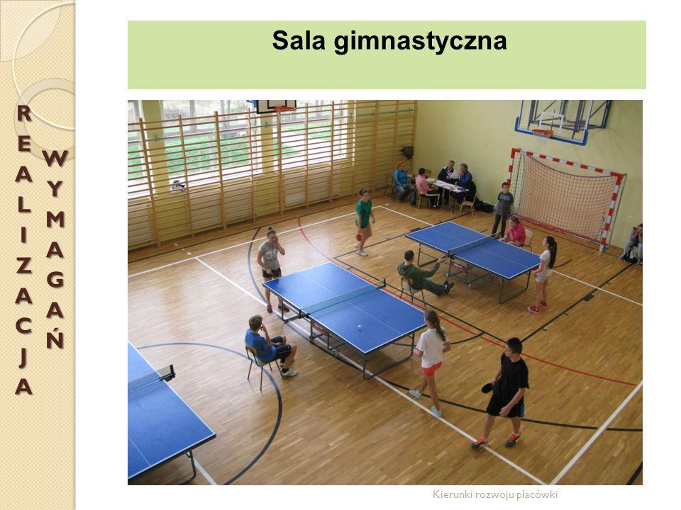REALIZACJA WYMAGAŃ Sala gimnastyczna Kierunki rozwoju placówki