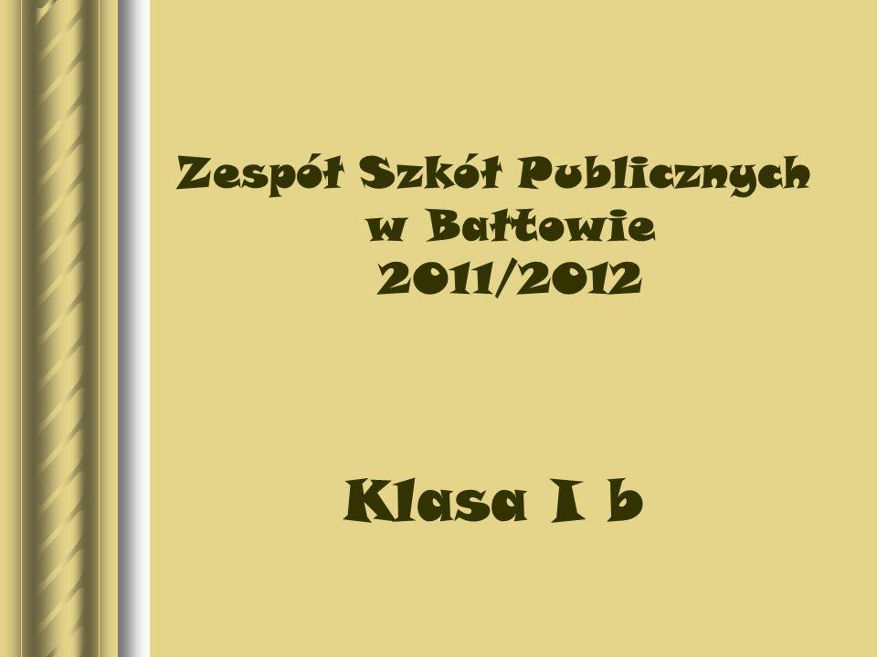 Zespół Szkół Publicznych w Bałtowie 2011/2012