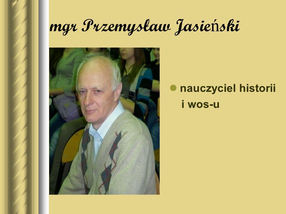 mgr Przemysław Jasieński