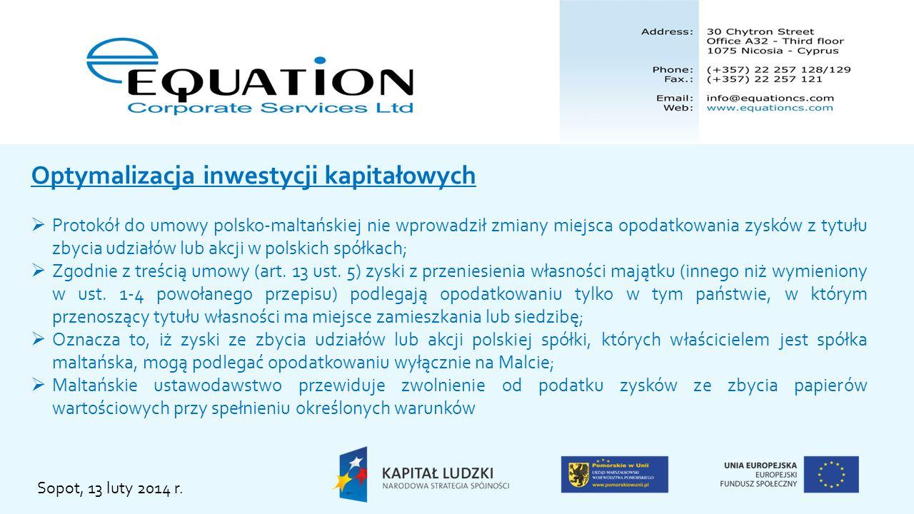 Optymalizacja inwestycji kapitałowych