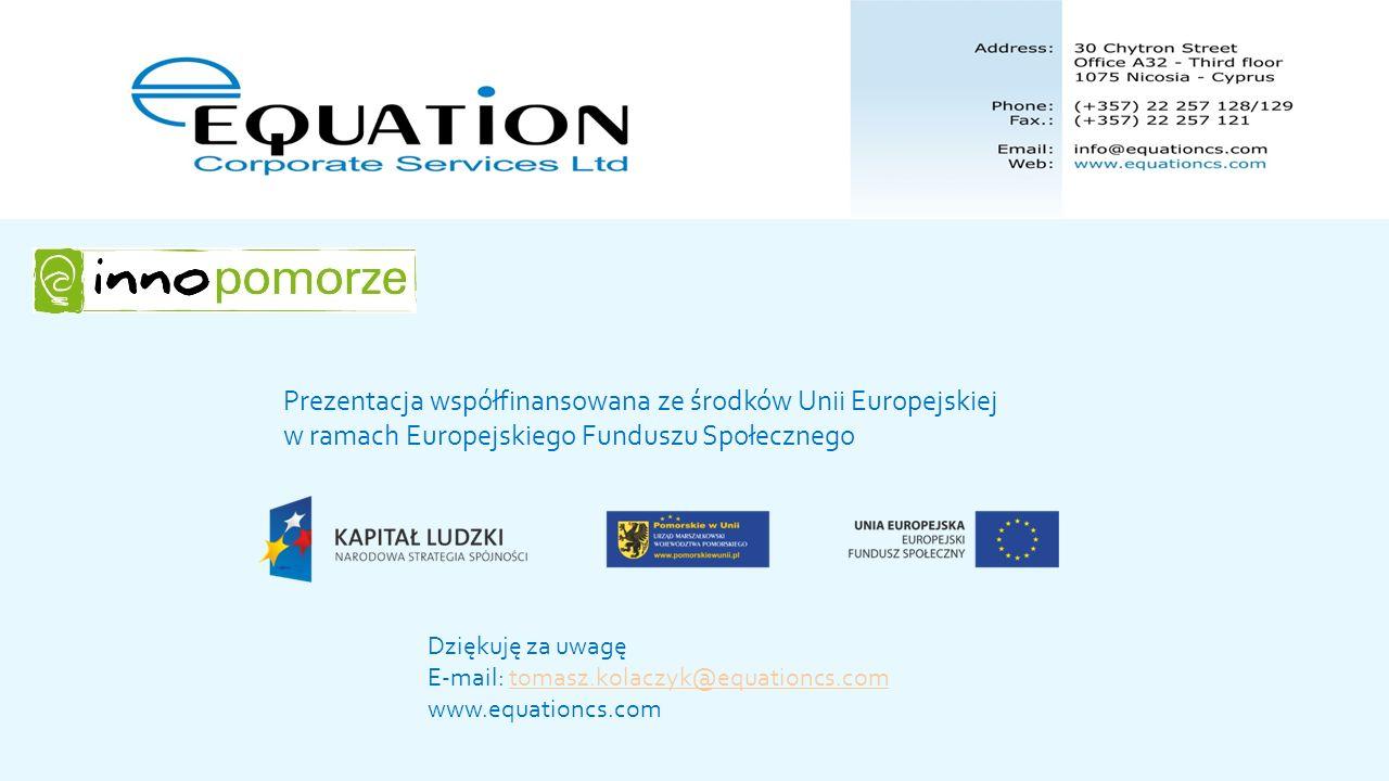 Prezentacja współfinansowana ze środków Unii Europejskiej