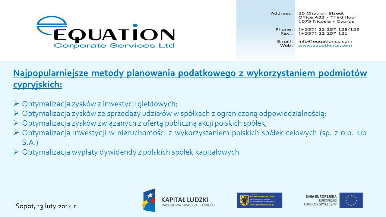 Najpopularniejsze metody planowania podatkowego z wykorzystaniem podmiotów cypryjskich: