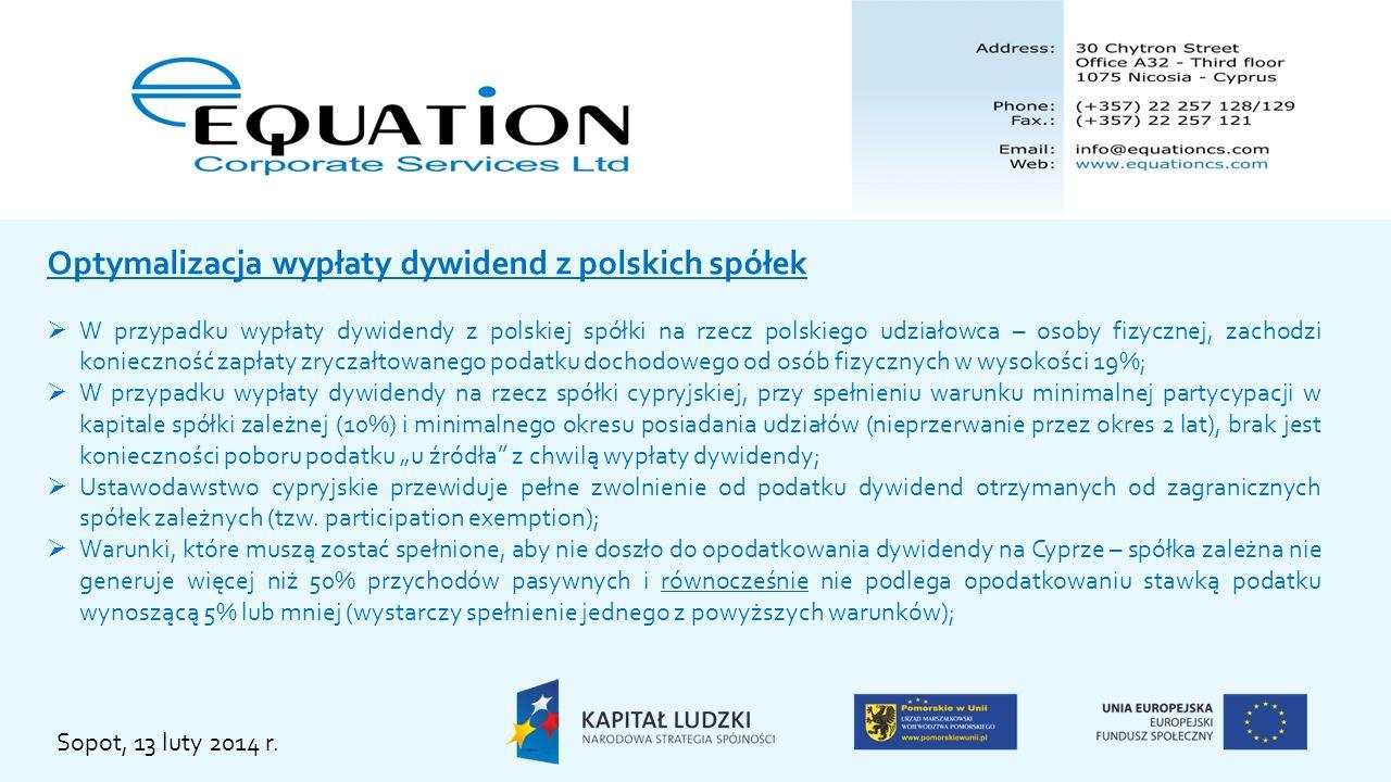 Optymalizacja wypłaty dywidend z polskich spółek