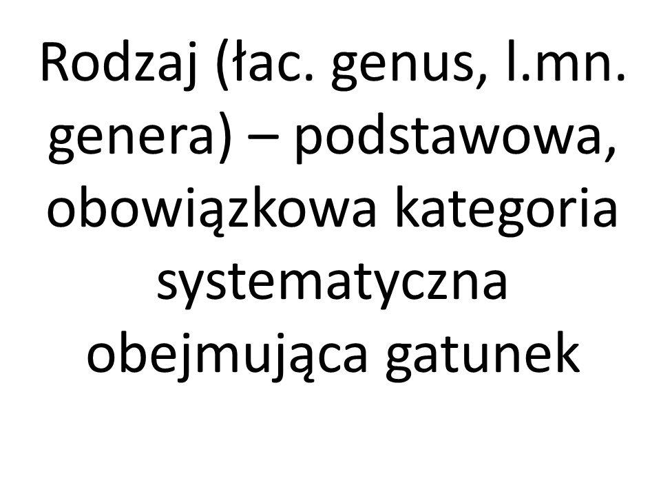 Rodzaj (łac. genus, l.mn.