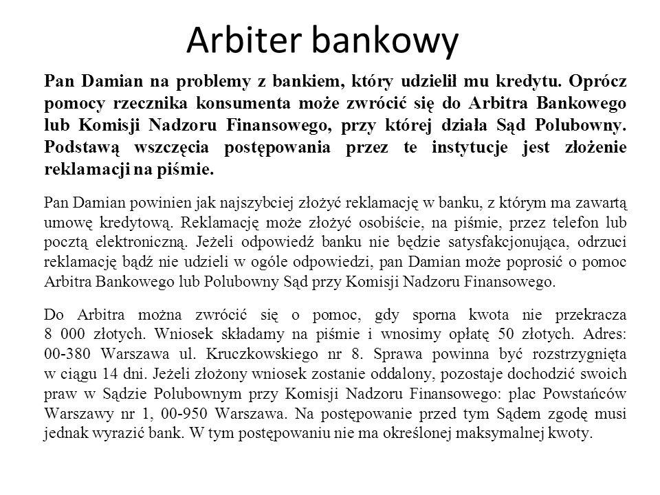 Arbiter bankowy