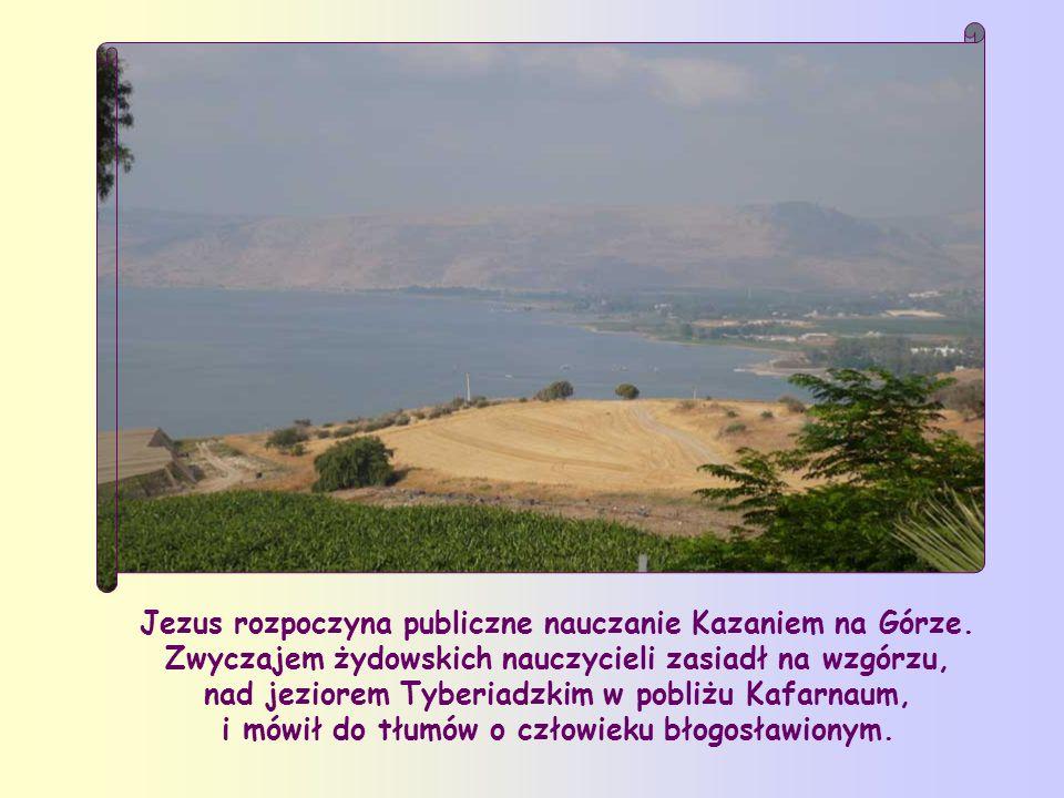 Jezus rozpoczyna publiczne nauczanie Kazaniem na Górze