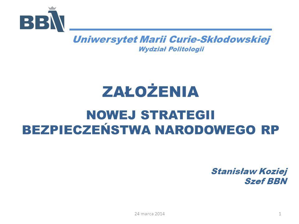 Uniwersytet Marii Curie-Skłodowskiej BEZPIECZEŃSTWA NARODOWEGO RP