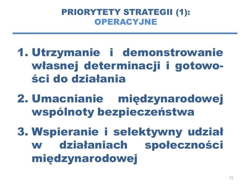 PRIORYTETY STRATEGII (1):