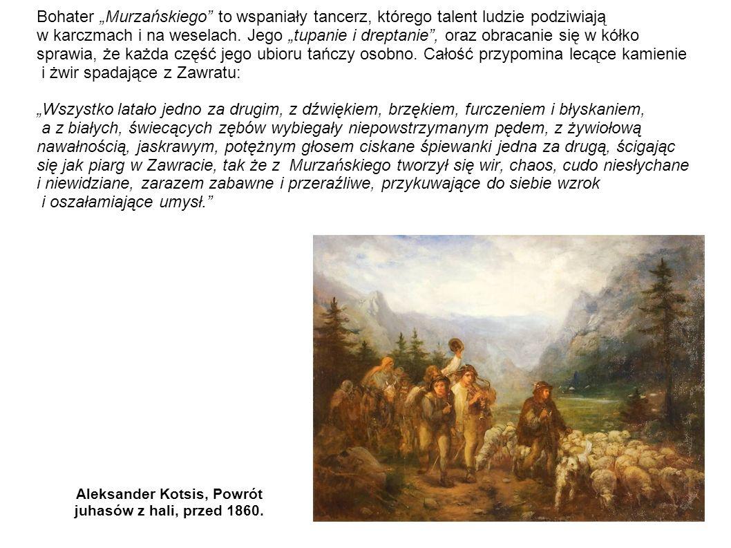 Aleksander Kotsis, Powrót juhasów z hali, przed 1860.