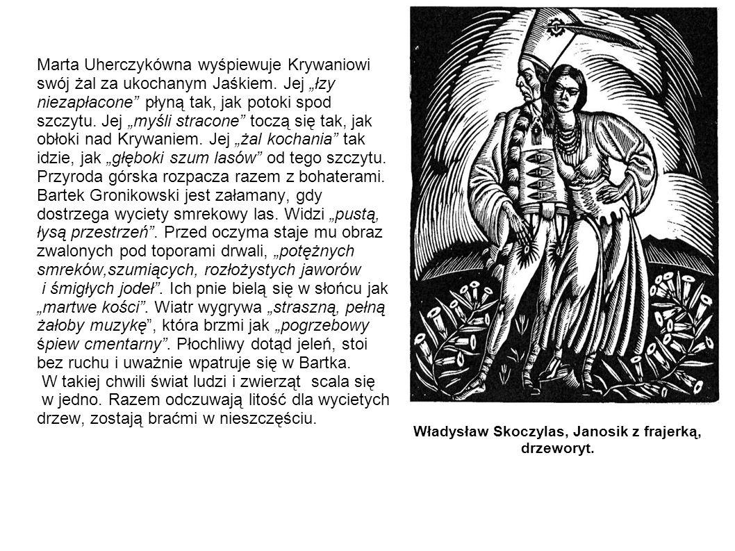 Władysław Skoczylas, Janosik z frajerką, drzeworyt.