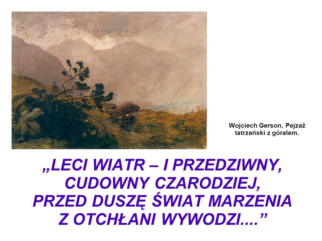 Wojciech Gerson, Pejzaż tatrzański z góralem.