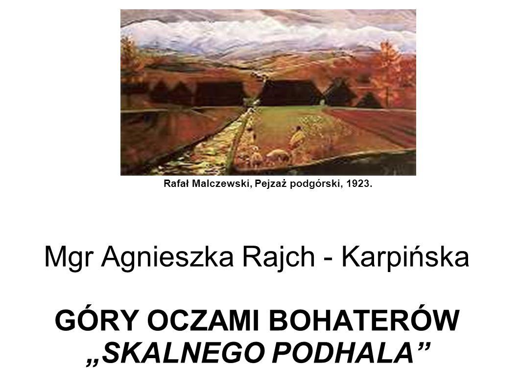 Rafał Malczewski, Pejzaż podgórski, 1923.