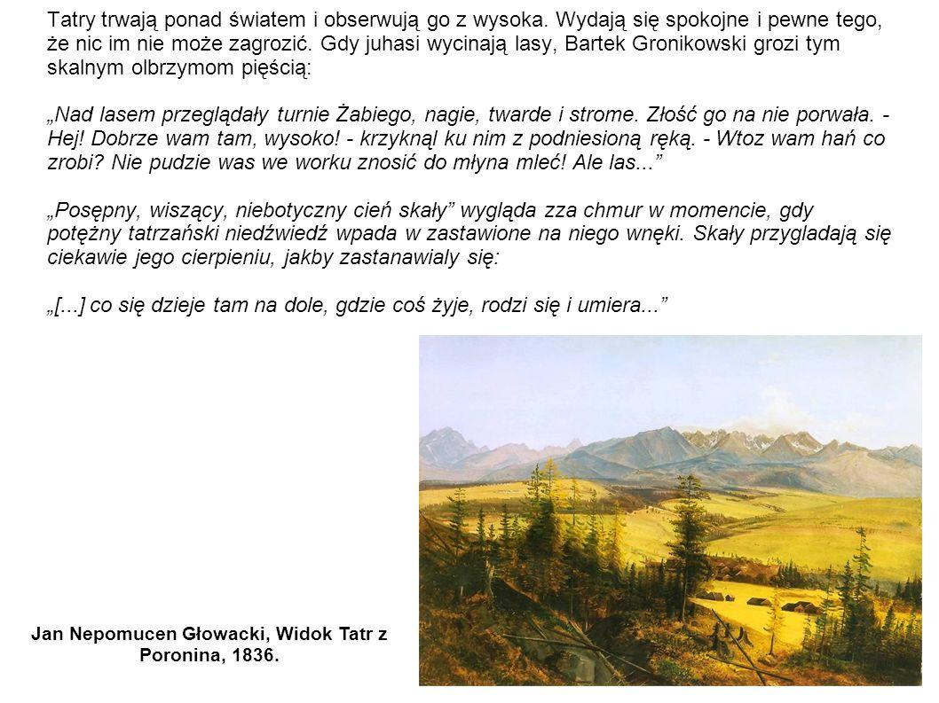 Jan Nepomucen Głowacki, Widok Tatr z Poronina, 1836.