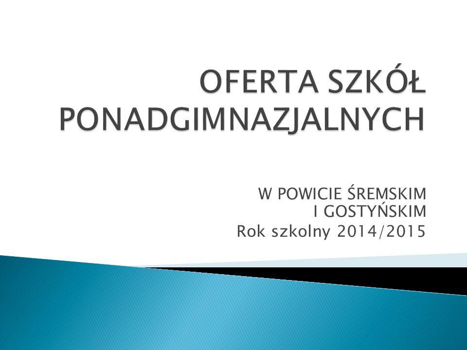 OFERTA SZKÓŁ PONADGIMNAZJALNYCH