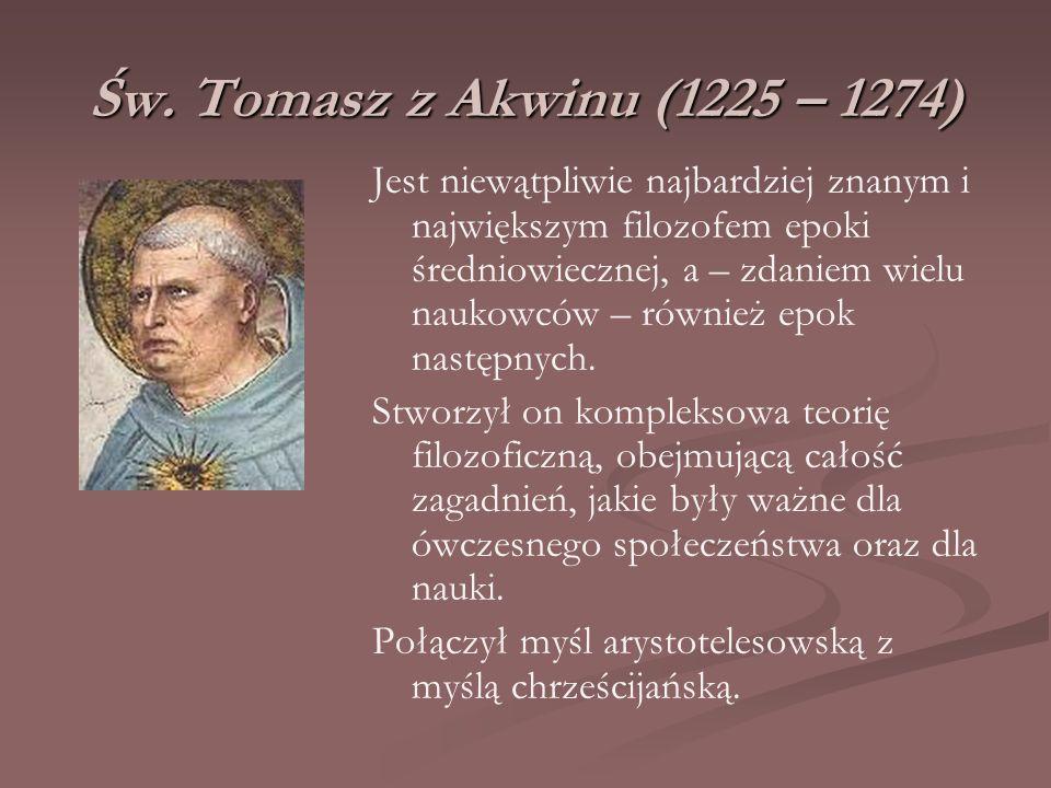 Św. Tomasz z Akwinu (1225 – 1274)