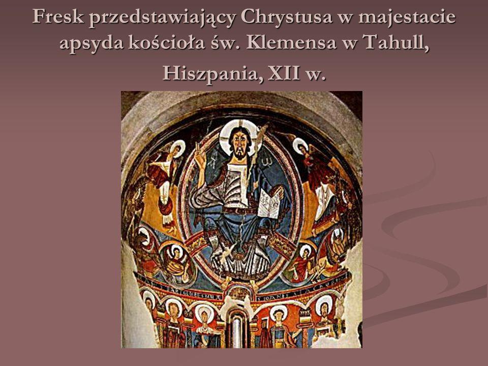 Fresk przedstawiający Chrystusa w majestacie apsyda kościoła św