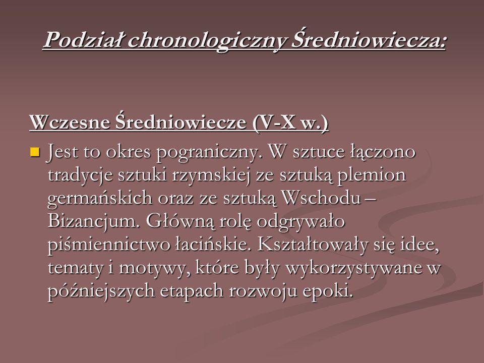 Podział chronologiczny Średniowiecza: