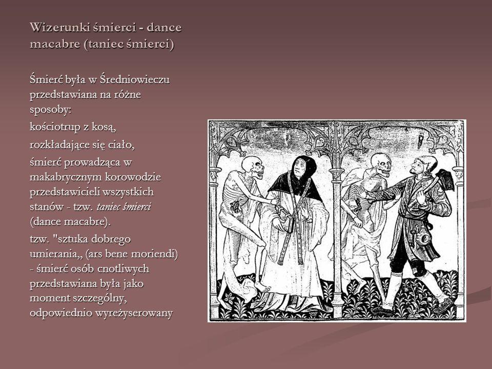 Wizerunki śmierci - dance macabre (taniec śmierci)