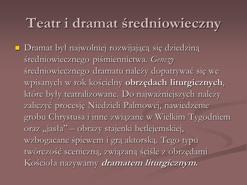 Teatr i dramat średniowieczny