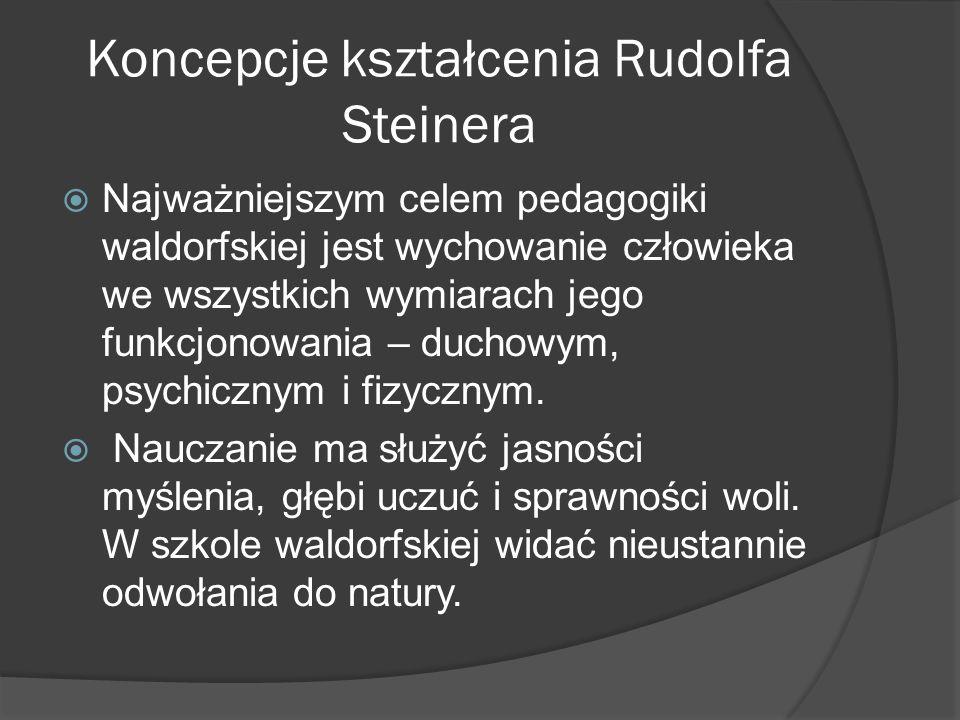 Koncepcje kształcenia Rudolfa Steinera