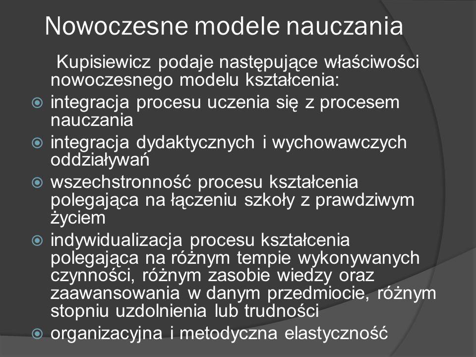 Nowoczesne modele nauczania