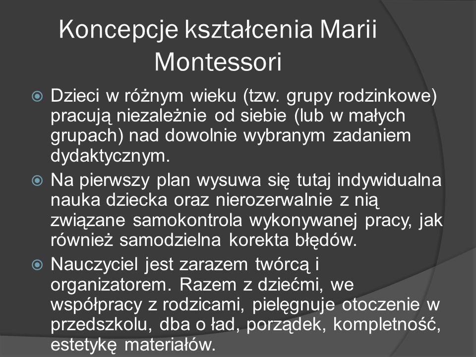 Koncepcje kształcenia Marii Montessori
