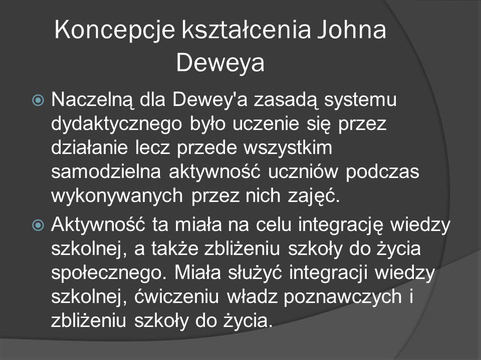 Koncepcje kształcenia Johna Deweya