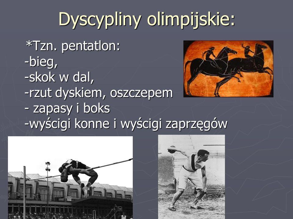 Dyscypliny olimpijskie: