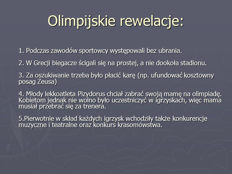 Olimpijskie rewelacje: