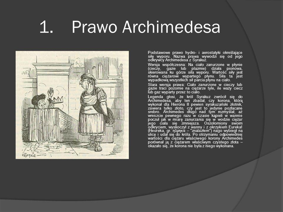 1. Prawo Archimedesa