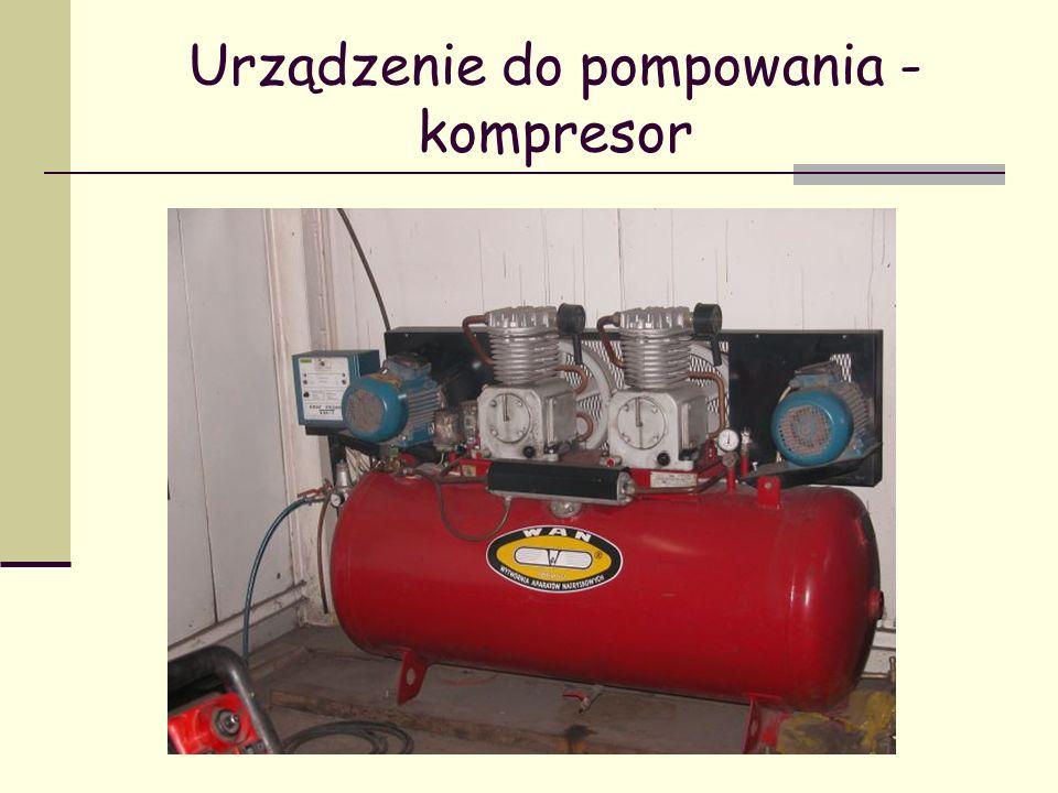Urządzenie do pompowania -kompresor