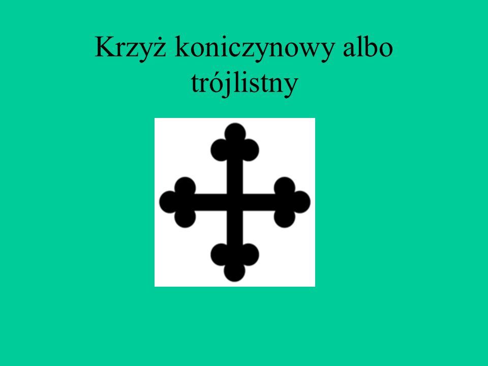 Krzyż koniczynowy albo trójlistny