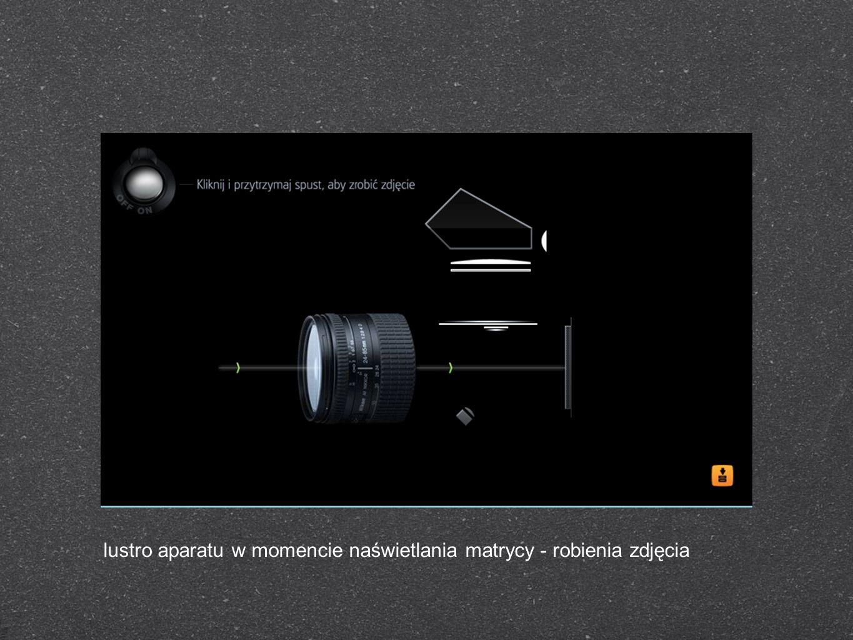 lustro aparatu w momencie naświetlania matrycy - robienia zdjęcia